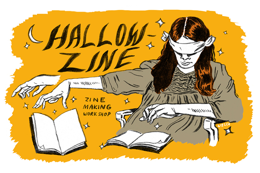 DiverseWorks - Hallow-Zine Making Workshop