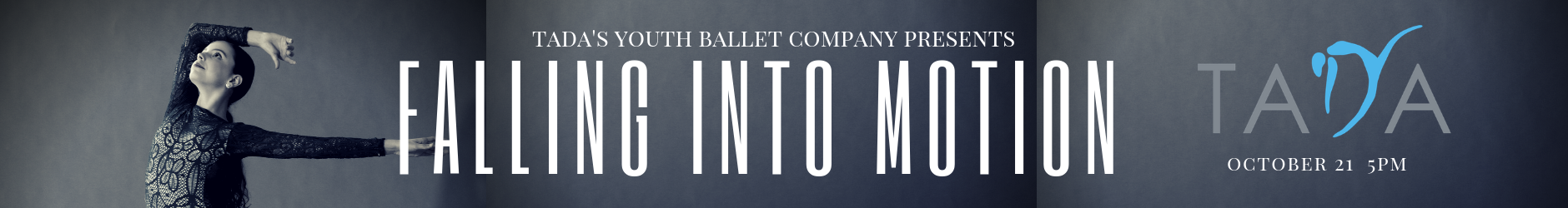 Texas Academy of Dance Arts - Falling into Motion Web Banner