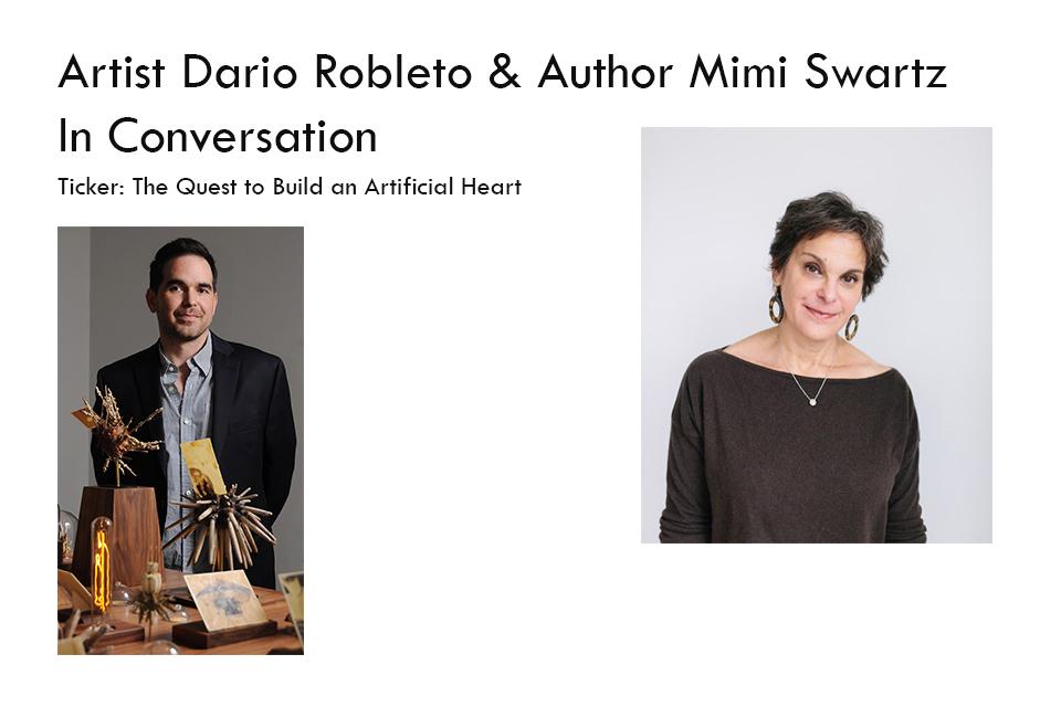 Artist Dario Robleto Author Mimi Swartz In Conversation Match