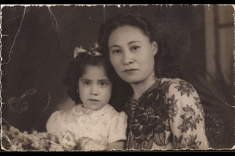 Rasgos Asiaticos - Virginia Grise Family Photograph, Digital Scan of the Archival Image. Courtesy of the Artist