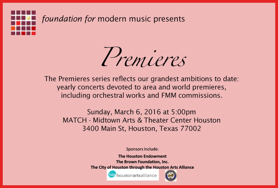 Foundation for Modern Music - Premieres