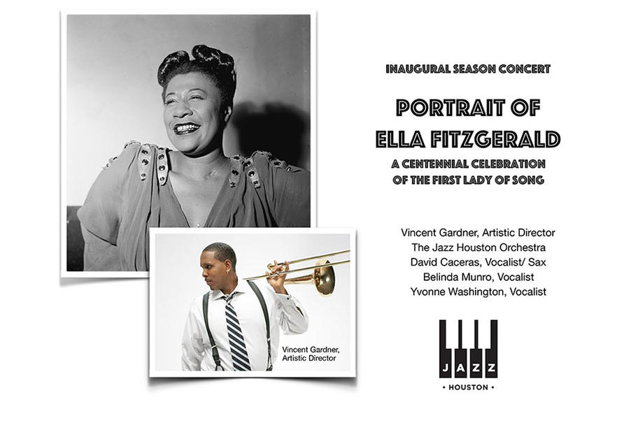 Jazz Houston - Portrait of Ella Fitzgerald