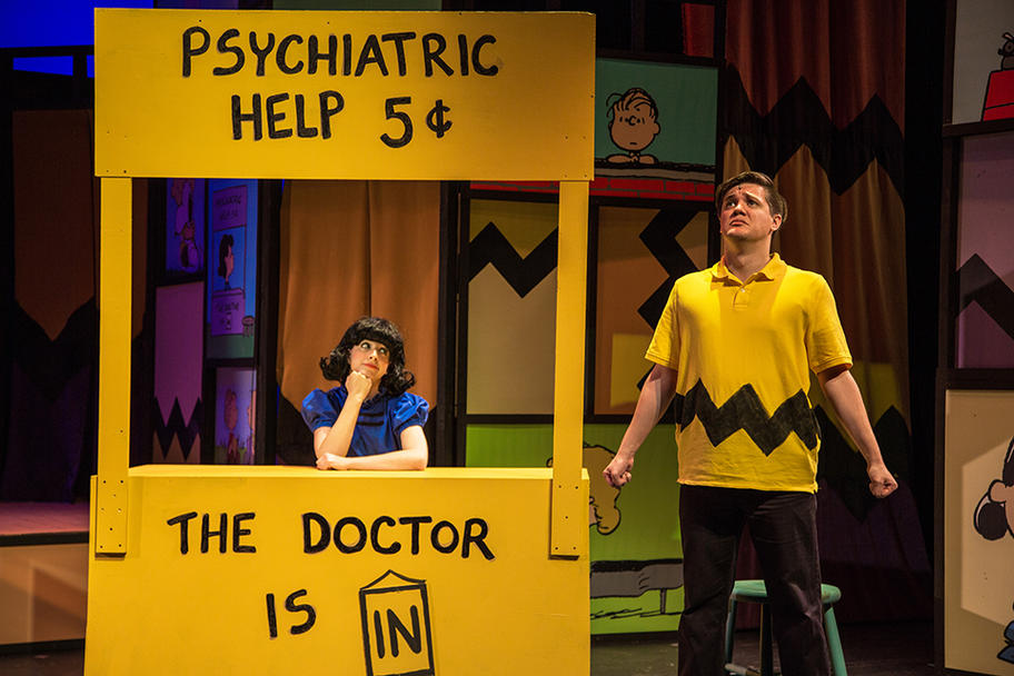 Main Street Theatre - Doctor is in Megan Jankovic as Lucy and Taelon Stonecipher as Charlie Brown