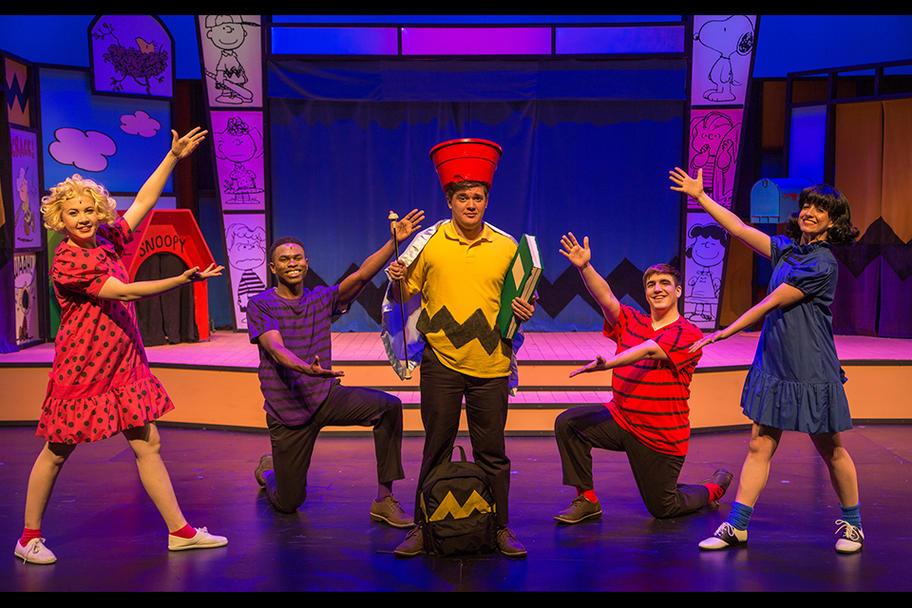 Main Street Theatre - L-R Sally Schroeder Charlie Brown Linus Lucy