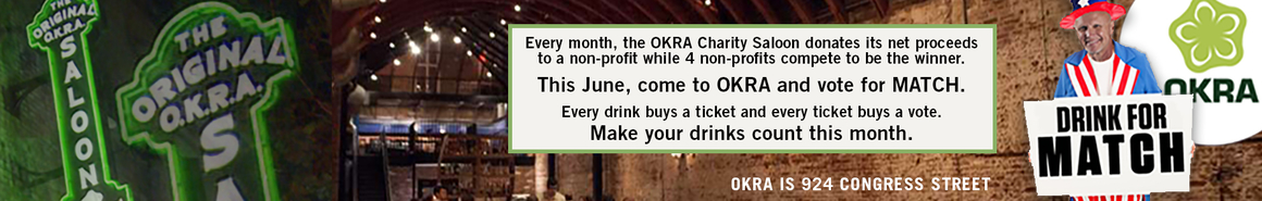Drink for MATCH at Okra this month